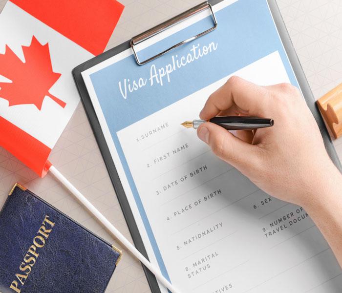 تکمیل فرم ویزای کانادا | تهران پیکاپ